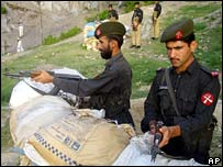 Pakistani paramilitaries in North-West Frontier province
