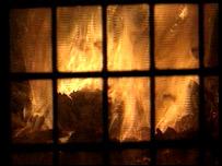Incinerator flames