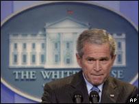 El presidente de EE.UU., George W. Bush