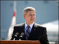 Canadian Prime Minister Stephen Harper, file photo