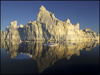 Arctic ice  Image: BBC