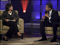 Barak Obama participa en debate sobre derechos de los gays