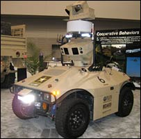 The MDARS machine, made by General Dynamics Robotic Systems