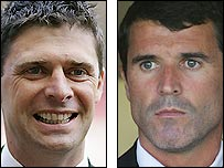 Sunderland chairman Niall Quinn (left) and Black Cats manager Roy Keane