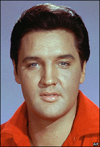 Early publicity photo of Elvis