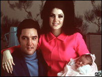 Elvis, Priscilla and Lisa-Marie Presley