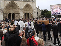 Funeral of Cardinal Lustiger at Notre Dame, Paris