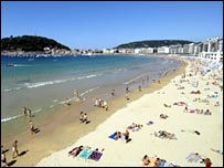 The Basque town of San Sebastian