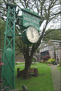 The restored clock stands in Kendal