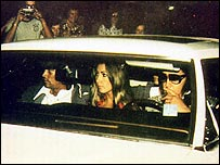 Sonny West (left) with Linda Thompson and Elvis