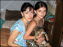 Russian refugees from Chechnya living in Pyatigorsk