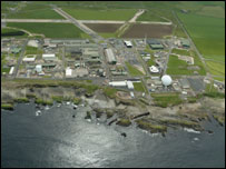 Aerial view of Dounreay in Caithness