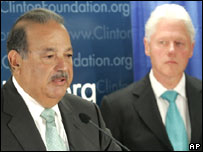 Carlos Slim y Bill Clinton.