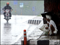 A scene from a street in Delhi during the monsoon rains (file image)