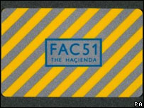 Hacienda nightclub membership card