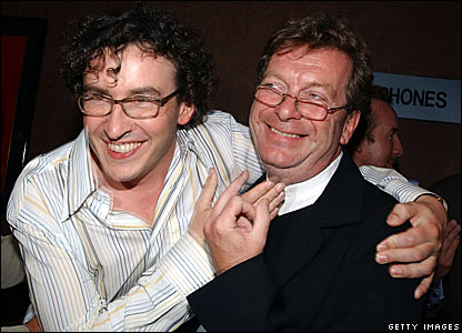 Steve Coogan and Tony Wilson in 2002