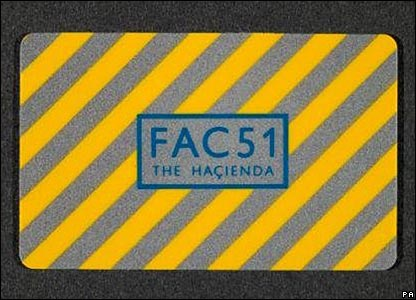 A membership card for the Hacienda