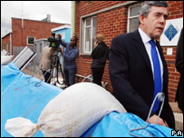Prime Minister Gordon Brown in Gloucestershire