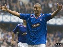 Rangers goalscorer Daniel Cousin