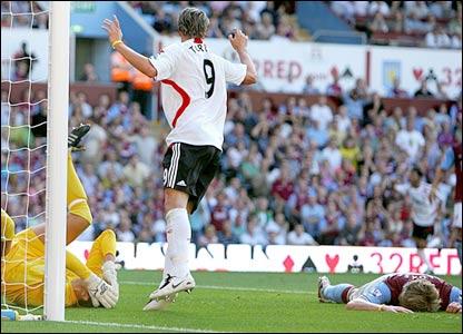 Martin Laursen scores an own goal