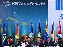 Cumbre de Petrocaribe en Caracas, agosto de 2007