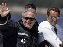 George Bush y Nicolas Sarkozy