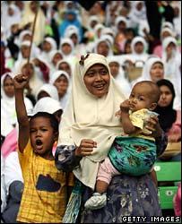 Supporters attending the Hizb ut-Tahrir event, Jakarta