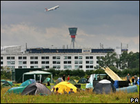 Climate change protest camp at Heathrow