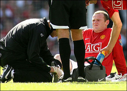 Wayne Rooney is injured