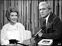 Nancy Reagan and Merv Griffin in 1982
