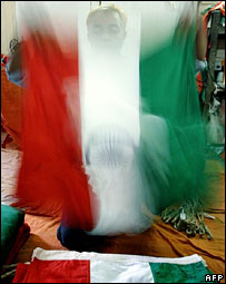 India flag being made
