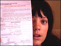 Lily Allen and her sick note