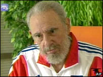 Fidel Castro seen on a Cuban TV programme in June 2007