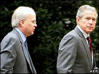 Karl Rove with President Bush