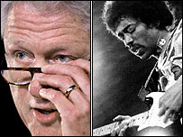 Bill Clinton and Jimi Hendrix