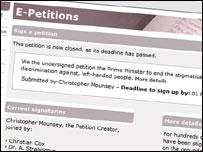 E-petition ragout