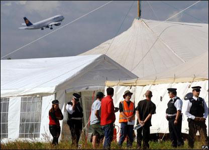 The Camp for Climate Action 2007 at Heathrow Airport