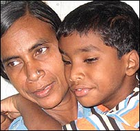Budhia Singh with his mother
