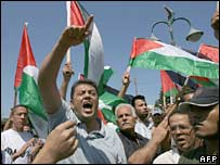 Rally in Gaza City on 13 August 2007