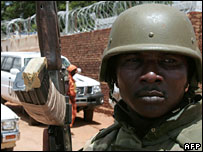 AU peacekeeper in Darfur