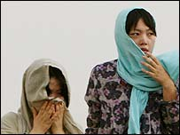 The freed South Korean women in Afghanistan, 13/8/2007