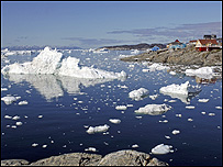 Sea ice, Greenland (Image: BBC)