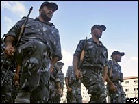 Members of Hamas' Executive Force in Gaza City. File photo