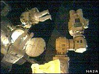Astronauts on spacewalk, Nasa