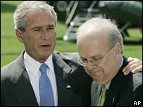 Karl Rove with President George W Bush - 13/08/07