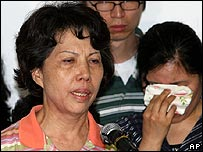 The mother of one of the released Korean hostages