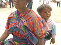 A Guatemalan mother and baby (file picture)