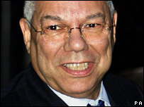Colin Powell, pictured on a trip to the UK in 2006
