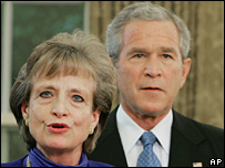 Harriet Miers and President Bush