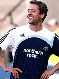 England and Newcastle striker Michael Owen